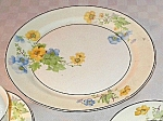 Crooksville China # 1233 Floral Dinner Plate