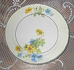 Crooksville China # 1243floral Dessert Plate