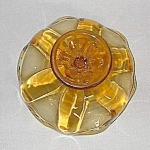 Viking Amber Stretch Glass Compote
