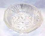 Pressed Glass Footed Crystal Bowl