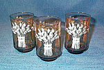Franco Amber Glass Wheat Juice Glasses
