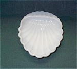 Milk Glass Shell Soap Dish