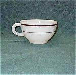 Pyrex Double Tough Maroon Striped Coffee Cup