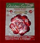 Santa Land Red Foil Christmas Garland.