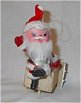 Vintage Felt Sitting Santa Christmas Ornament
