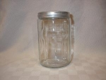 Hoosier Glass Tea Canister W/ Aluminum Lid