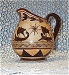 Mexico Tan And Brown Cream Pitcher