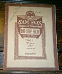 1924 Sam Fox Popular Standard One-step Folio