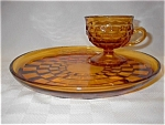 Indiana Amber Glass Whitehall Snack Sets (7)