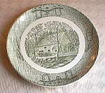 Currier & Ives Ox Bow Or Ox Yoke Dinner Plate