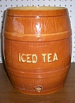 Large Vintage Iced Tea Barrell Made In Usa