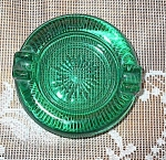 Forest Green Glass Ashtray Individual