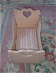 Handmade Wooden Doll Bed W/ Feather Mattress