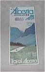 Vintage 1975 Road Map Alberta Canada