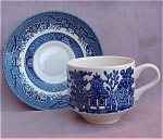Broadhurst Blue Willow Cup & Saucer
