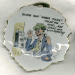 #4 Humorous Saying Bradley Leaf Dish