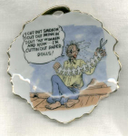 #3 Humorous Saying Bradley Leaf Dish