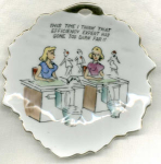 #2 Humorous Saying Bradley Leaf Dish