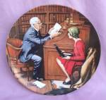The Professor Norman Rockwell Plate
