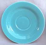 #1 Harlequin Homer Laughlin Saucer Turquoise