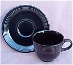 Fiesta Homer Laughlin Black Cup & Saucer New