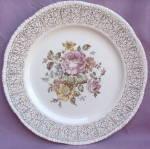 Homer Laughlin Rose Floral Dinner Plate