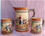 Vintage Japan Large Pitcher & 2 Beer Mugs