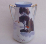 Japan Goldcastle 2 Handled Oriental Vase.