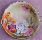 Hand Painted Roses Japan Console Bowl