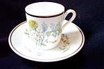 Ginori Primavera A.d. Flat Cup And Saucer #a