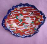 Ugly Oriental Handpainted Bowl Dish #3