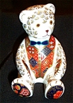 Royal Crown Derby Imari 'teddy Bear' Paperweight #06851