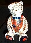 Royal Crown Derby Imari 'teddy Bear' Paperweight #06851