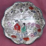 Torii Nippon Japan Geisha Girl Small Bowl
