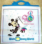 W D W 20th Anniversary Large Plastic Bag - Aqua Handle