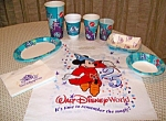 Wdw 25th Anniversary Paper Cups,plates,napkins And Bag