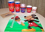 Wdw 100 Years Paper Cups, Napkins, Plastic Bag
