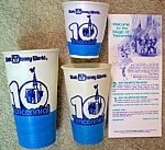 Waltdisneyworld Tencennial Paper Cups And Brochure