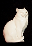 Herend Sitting Cat - Natural #5383