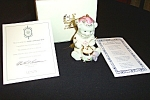 1999 Lenox China Annual Teddy Bear Ornament - Retired