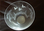 Queen Lace Crystal Bowl - Wild Ducks In Flight