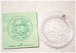 1983 Green Forest Pairpoint Cup Plate-clear