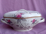 Meito China Roses Covered Casserole Dish