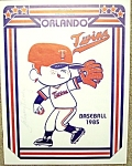 Mn. Twins/boston Red Sox 1985 Baseball Program
