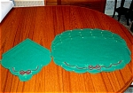 Holiday Green Placemats And Napkins - Set Of 4