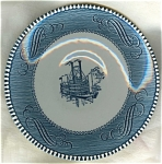 Blue Currier & Ives Royal China Saucer