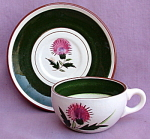 Stangl Pottery Thistle Cup And Saucer