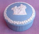 Wedgwood Blue Jasperware Trinket Box,