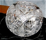 Large Cut Crystal Rose Bowl