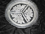 Etched Glass Divided Relish Dish